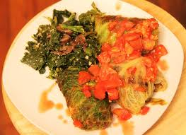 cabbage stuffed with mushrooms
