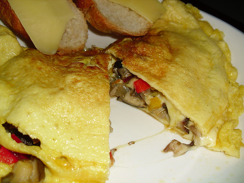 cheese and mushroom omelet recipe