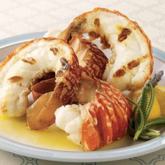 grilled lobster tails with sauce Caribe