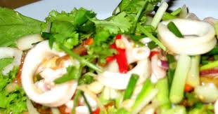 Delicious Squid Salad with GingerSauce