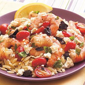 simple Greek shrimp recipe