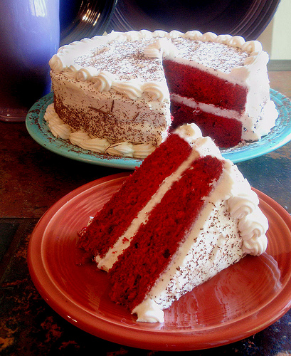Slow Cooker Red Velvet Cake