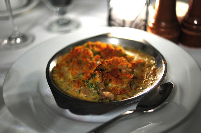 Broiled Oyster and Artichoke Gratin