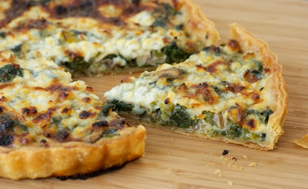 Oven Baked Spinach and Ricotta Tart