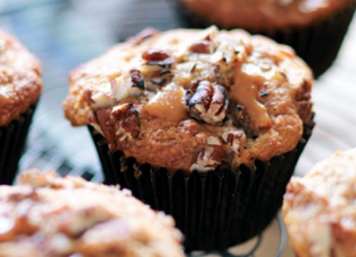 Oven Baked Banoffi Pecan Muffins