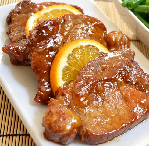 Fried Pork Chops with Orange Molasses Marinade