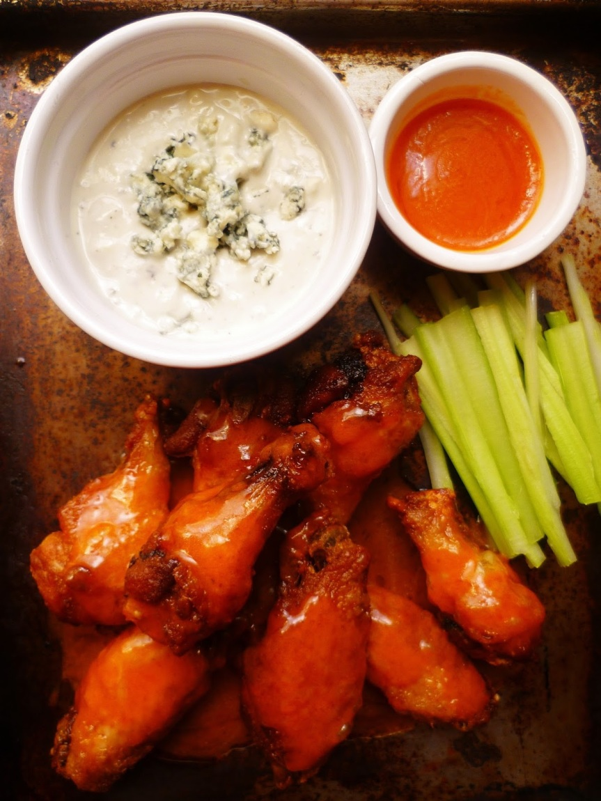Slow Cooker Buffalo Chicken Wings with Blue Cheese Dip
