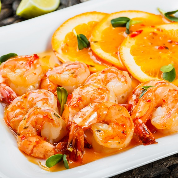 Fried Honey-Glazed Shrimp Recipe   MY EDIBLEFOOD